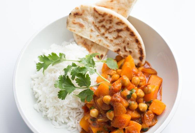 Butternut squash and chickpea curry final image