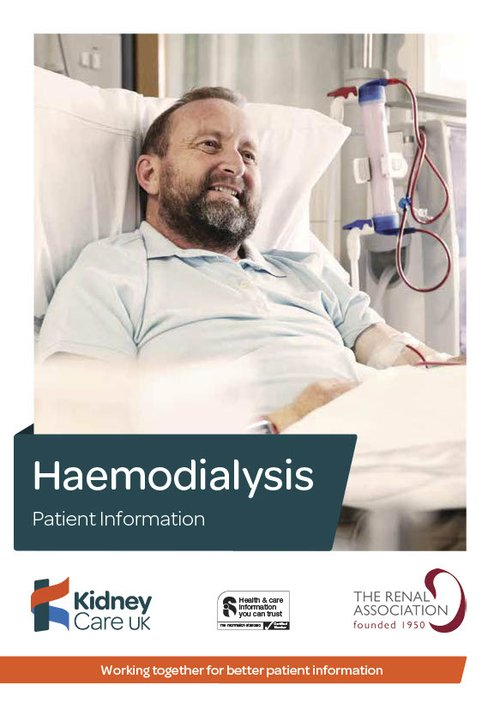 Haemodialysis booklet cover