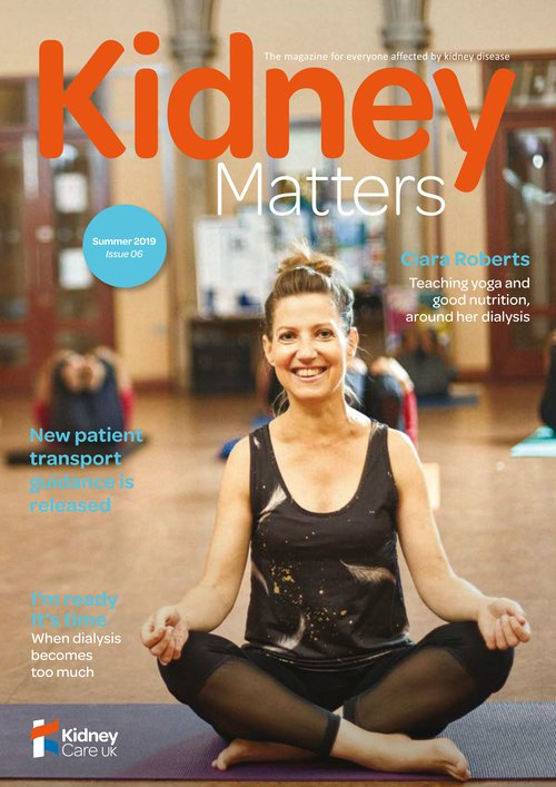 Kidney Matters - Issue 6 Summer 2019 - Front cover