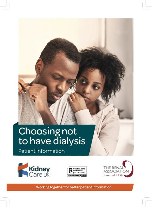Choosing not to have dialysis leaflet cover