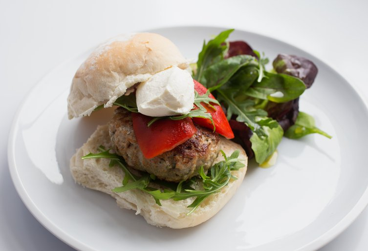 Summer pork and lemon burger