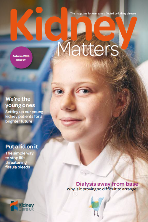 Kidney Matters - Issue 7 Autumn 2019 - front cover
