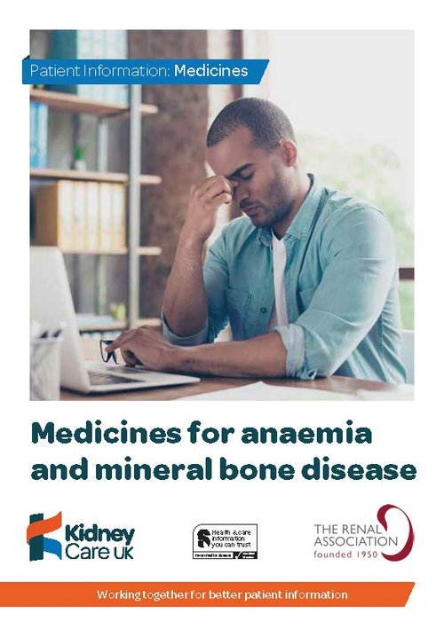 Medicines for anaemia and mineral bone disease cover