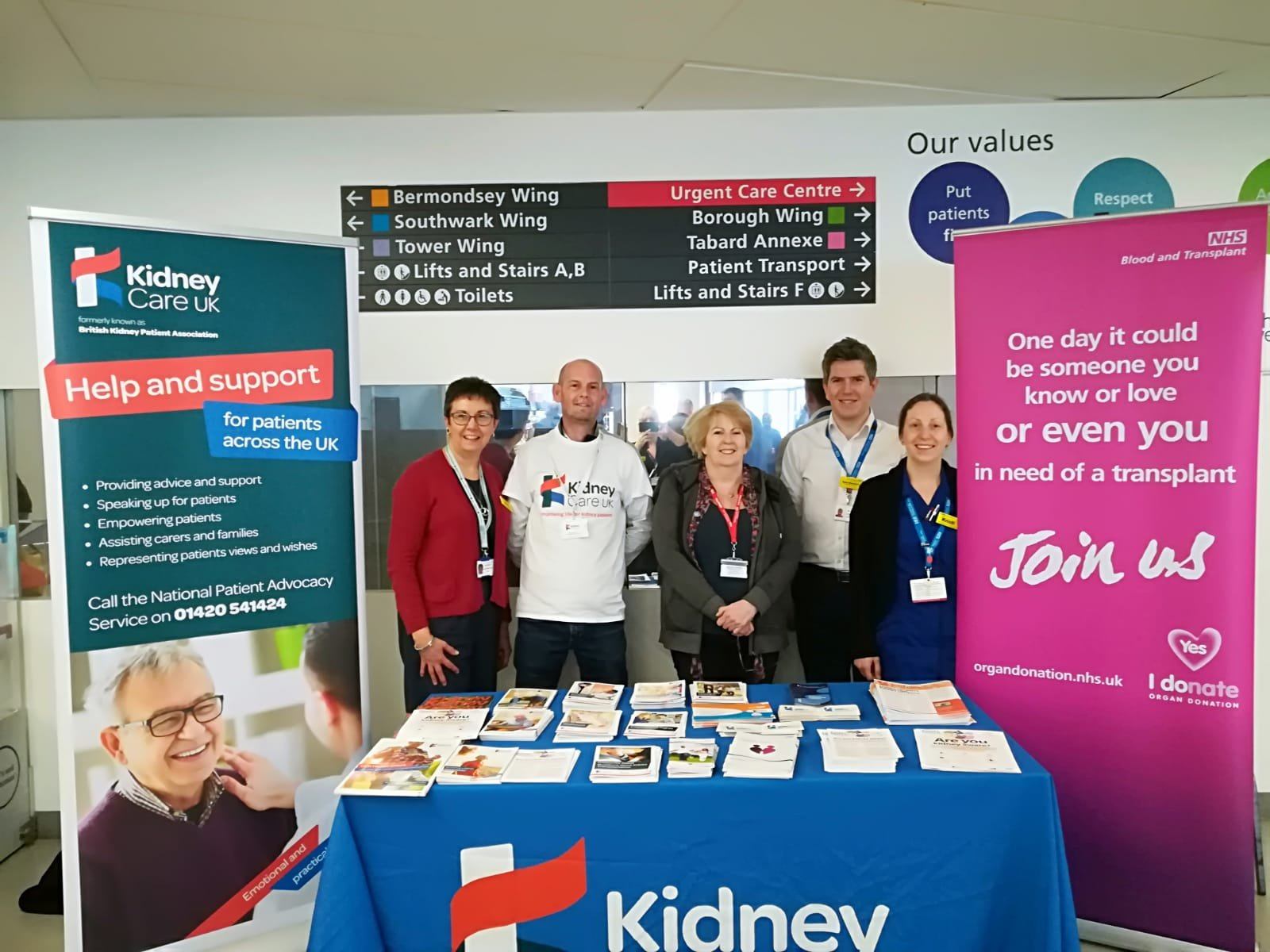 World Kidney Day - Ros Tibbles, Nick Palmer, Margaret Clarke, Sam Newman, and Kristi Whitelock